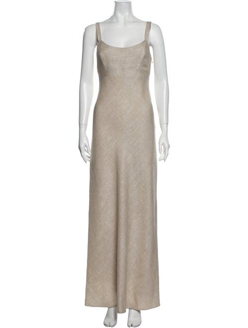 Pauline Trigere Scoop Neck Long Dress