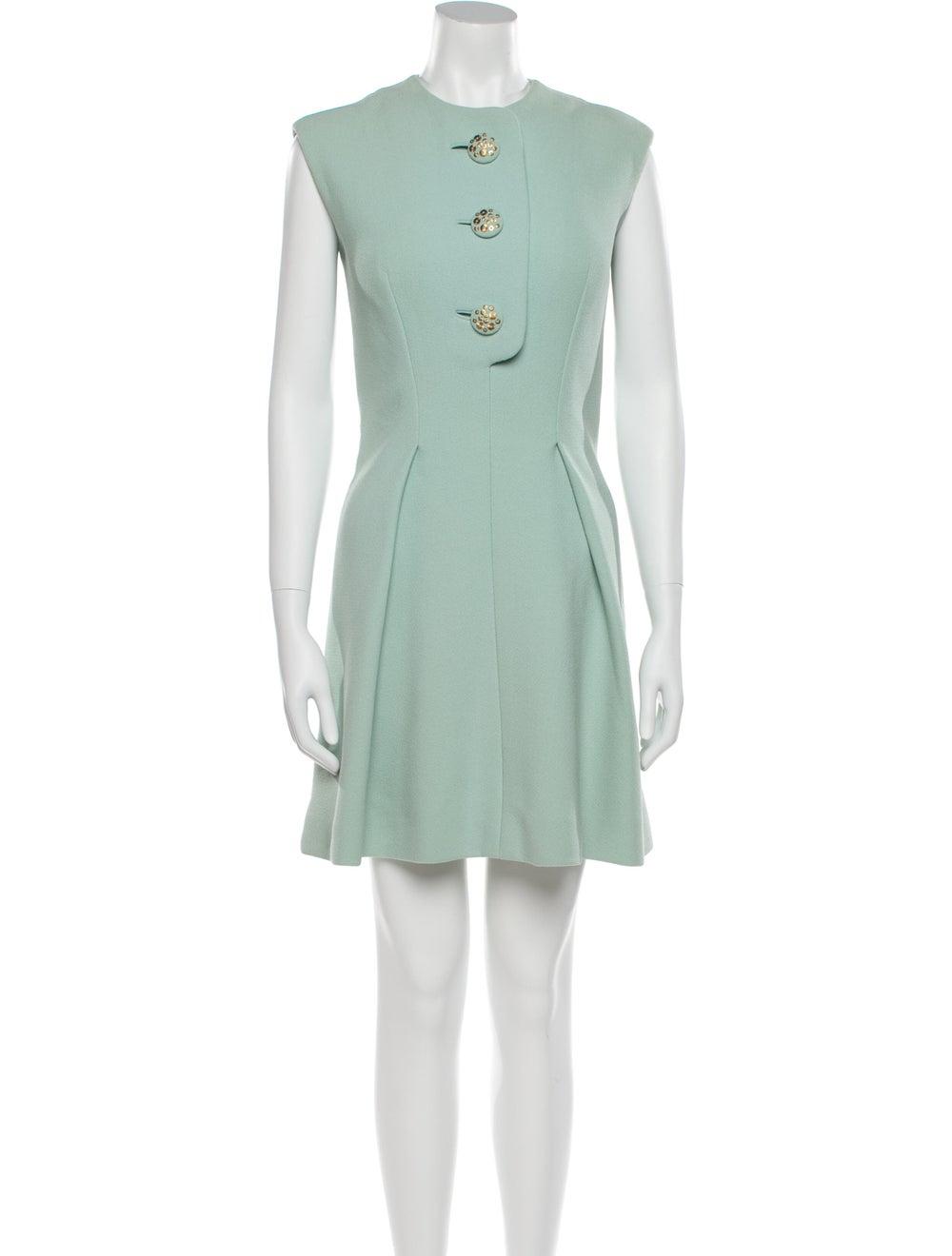 Pauline Trigere Vintage Mini Dress Blue - image 1
