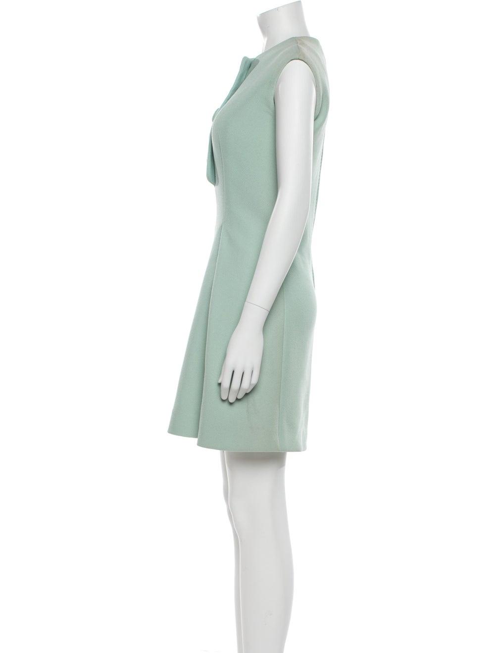 Pauline Trigere Vintage Mini Dress Blue - image 2