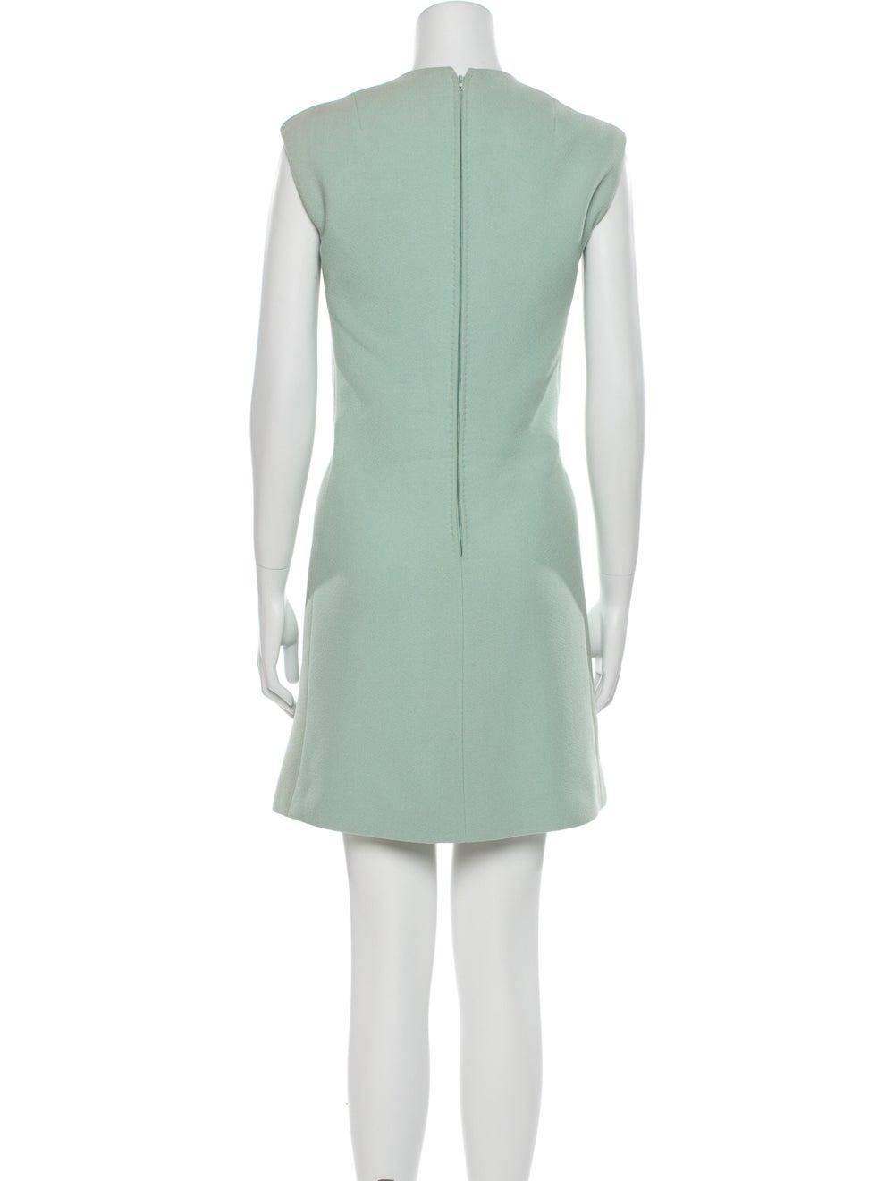 Pauline Trigere Vintage Mini Dress Blue - image 3