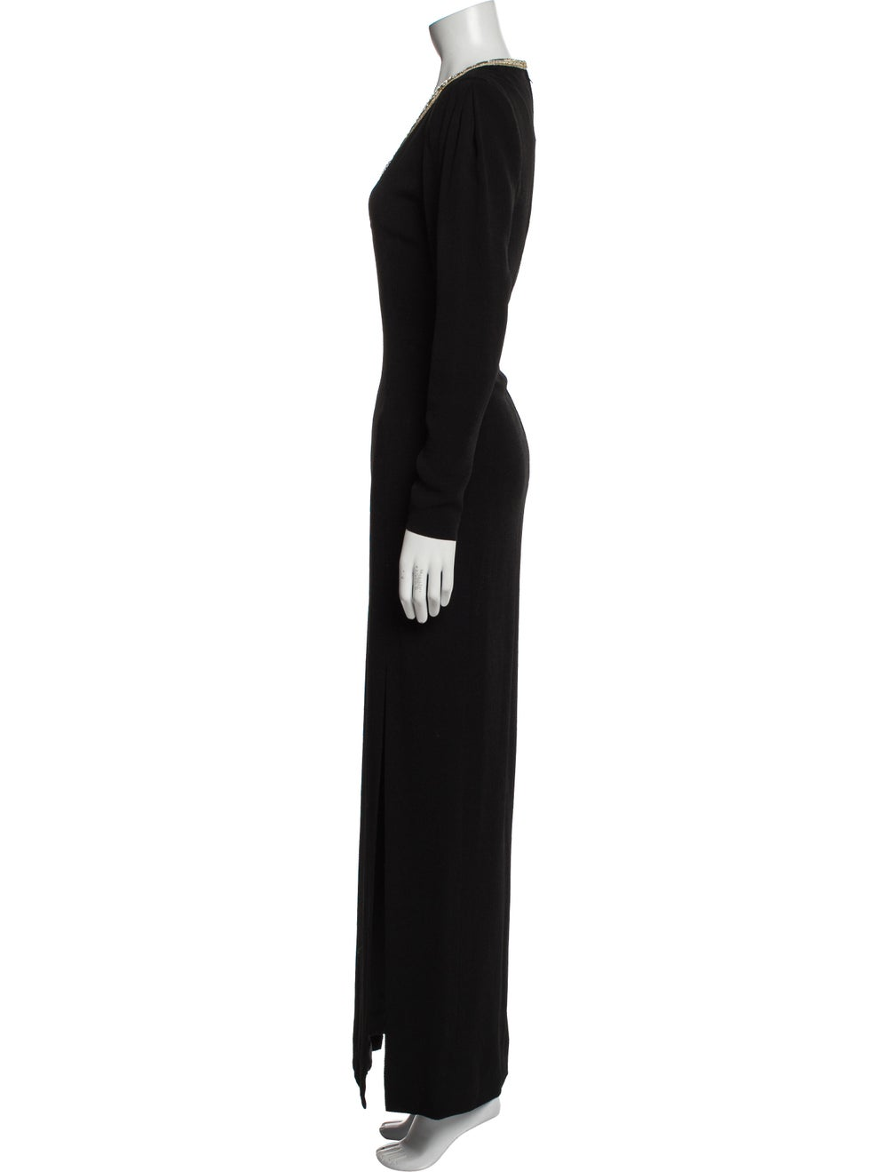 Pauline Trigere Vintage Long Dress Black - image 2