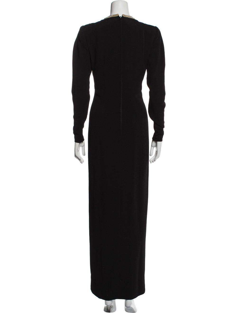 Pauline Trigere Vintage Long Dress Black - image 3