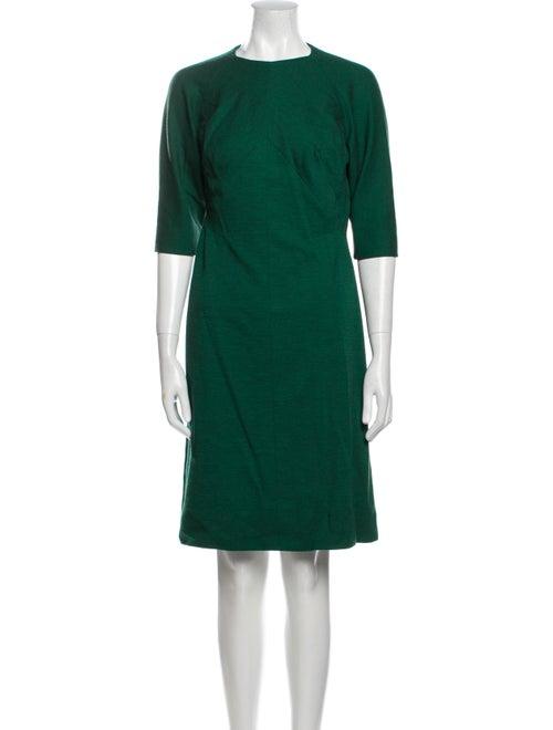 Pauline Trigere Vintage Knee-Length Dress Green - image 1