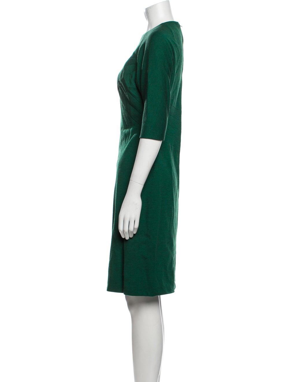 Pauline Trigere Vintage Knee-Length Dress Green - image 2