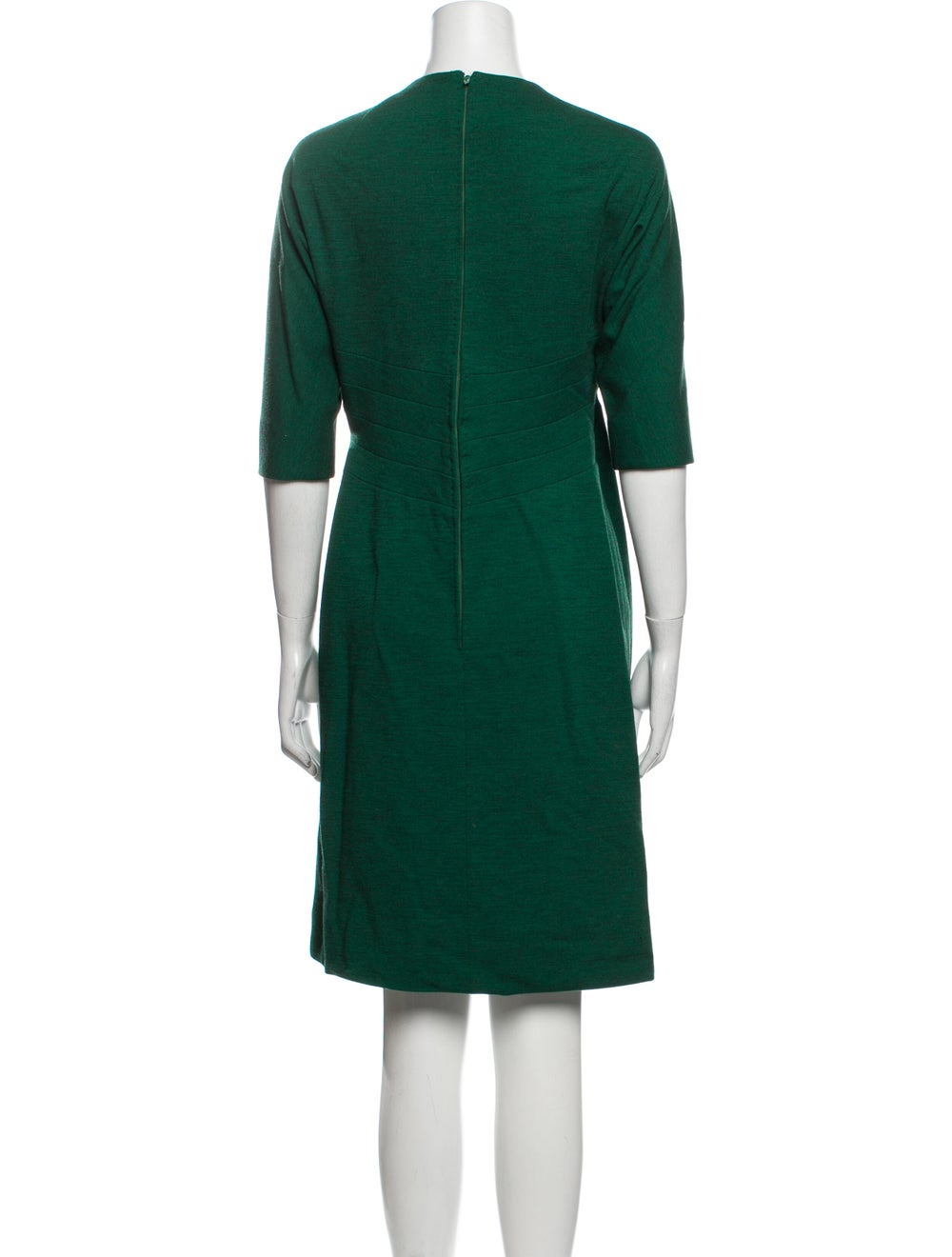 Pauline Trigere Vintage Knee-Length Dress Green - image 3