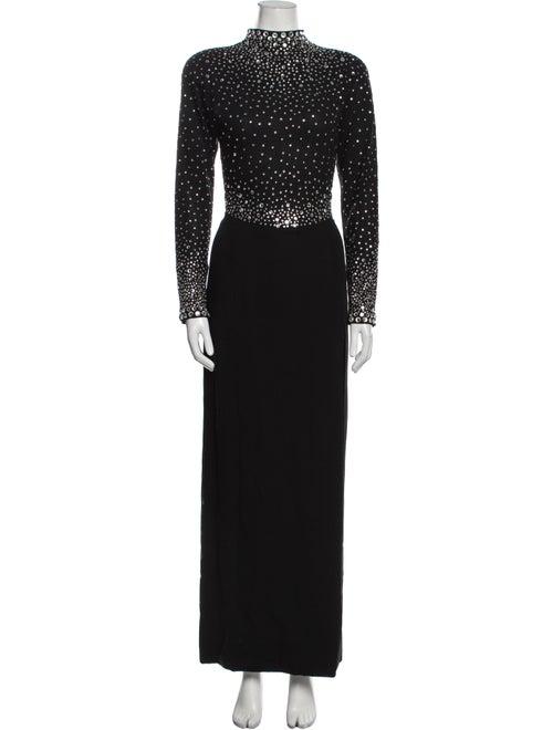 Pauline Trigere Vintage Long Dress Black