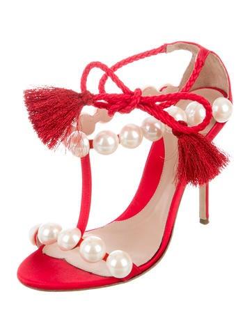 2016 Satin Tassel Sandals