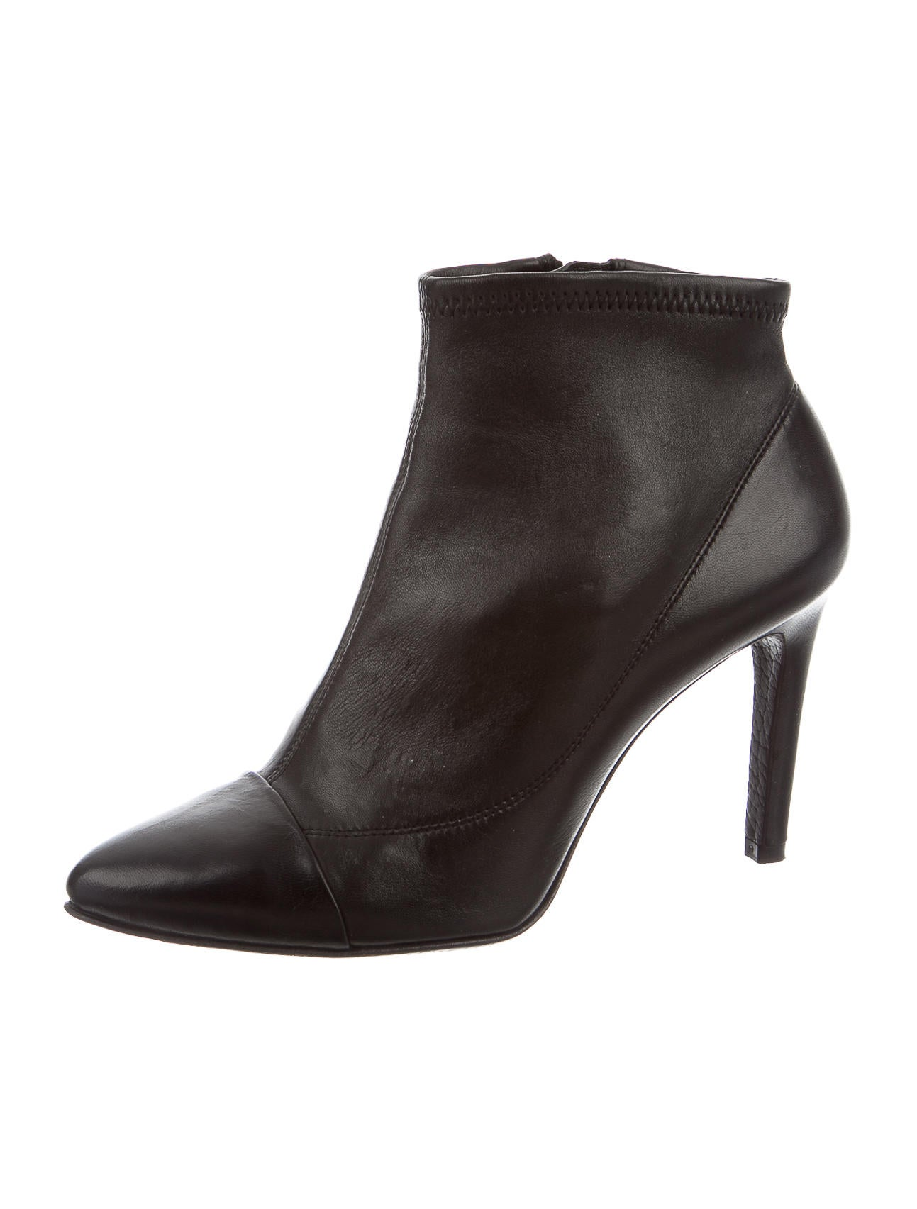 pedro garcia leather pointed toe ankle boots shoes