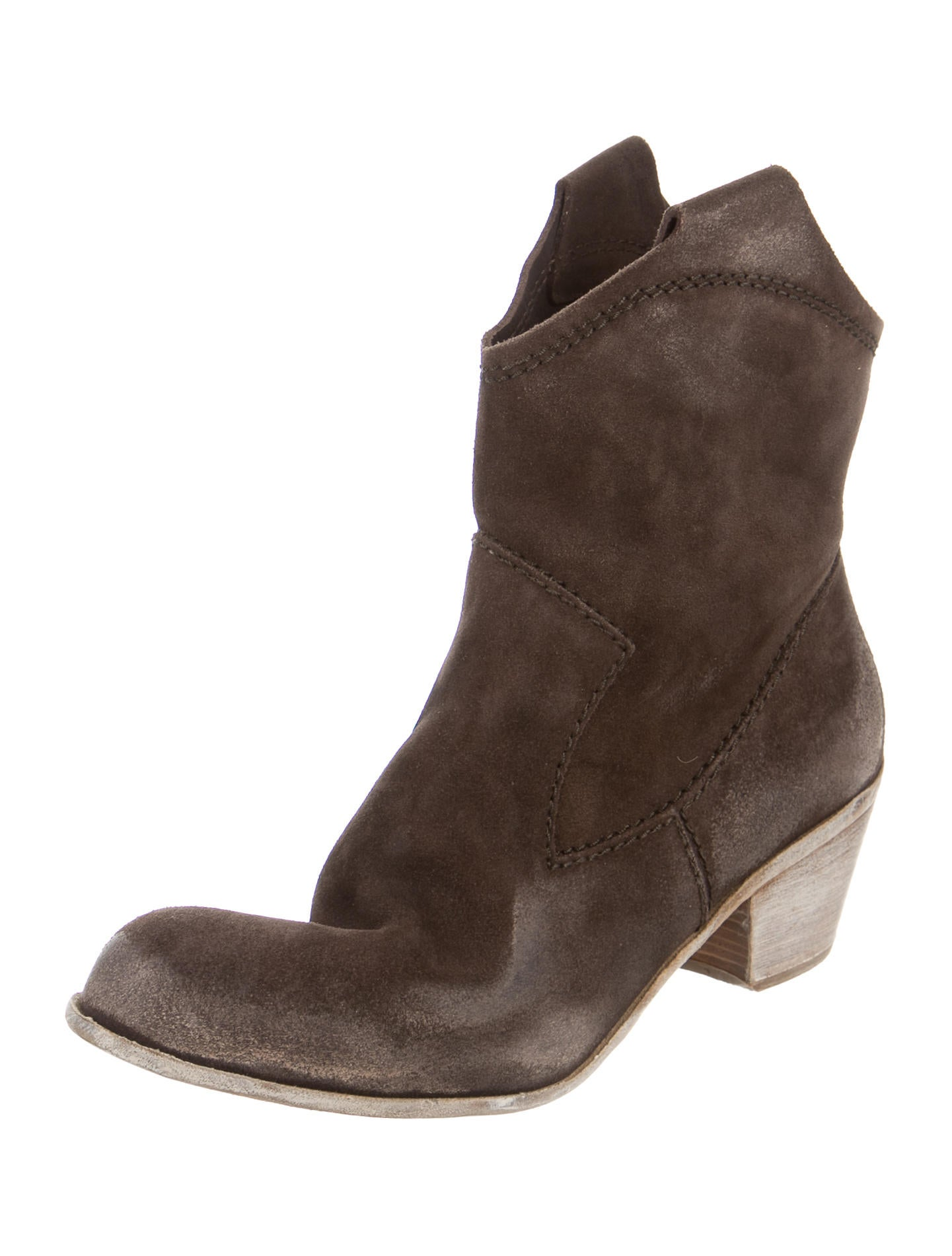 pedro garcia distressed suede ankle boots shoes