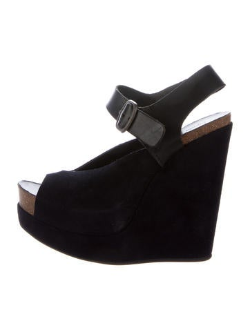 Pedro Garcia Suede Slingback Wedges None