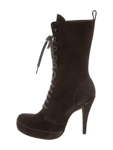 Pedro Garcia Suede Platform Ankle Boots None