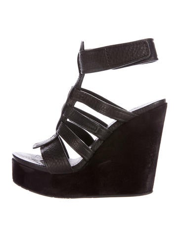 Pedro Garcia Caged Platform Wedges None