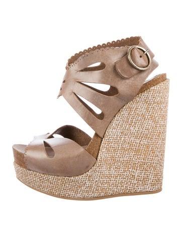 Pedro Garcia Leather Platform Sandals None