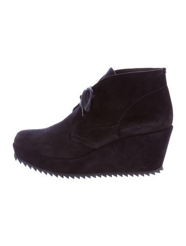 Pedro Garcia Platform Wedge Booties None