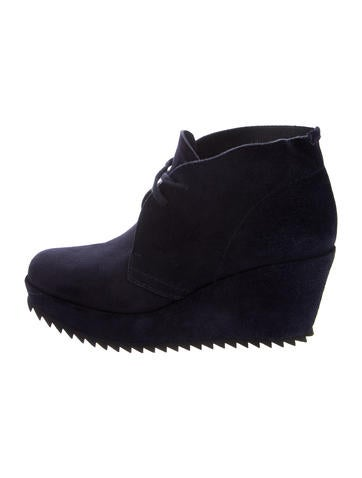 Pedro Garcia Suede Wedge Ankle Booties None