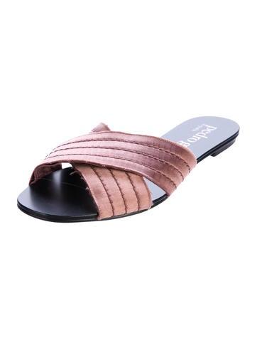 Pedro Garcia Satin Crossover Sandals discount ebay 461ksTTe