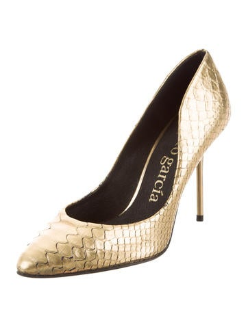 free shipping online affordable online Pedro Garcia Embossed Metallic Pumps cheap sale fashion Style official site cheap online PRyigWnM