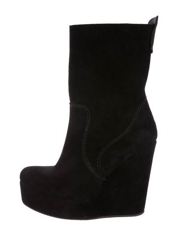 Pedro Garcia Suede Wedge Ankle Boots None
