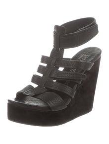 c606fc363a9d Pedro Garcia. Leather Platform Wedge Sandals