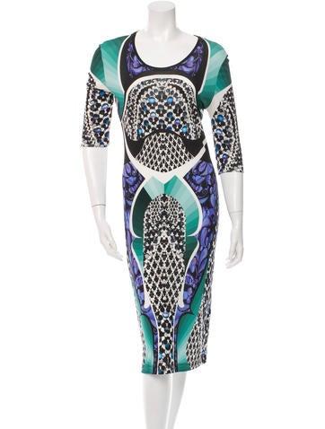 Peter Pilotto Digital Printed Midi Dress
