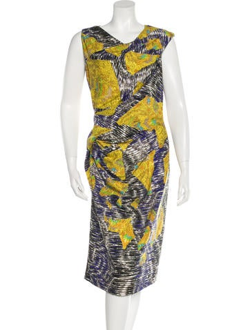 Peter Pilotto Silk Digital Print Dress