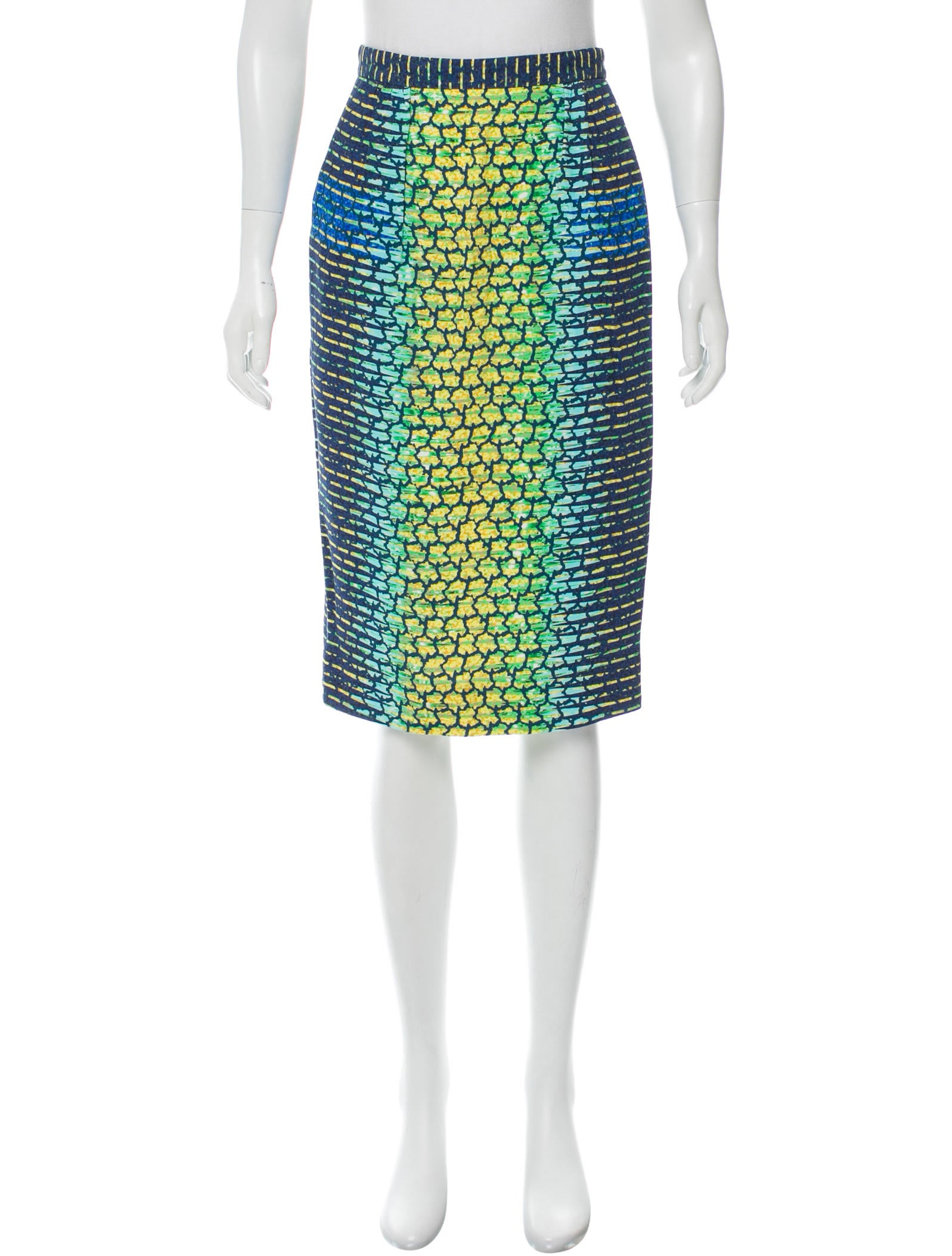 pilotto abstract print pencil skirt clothing