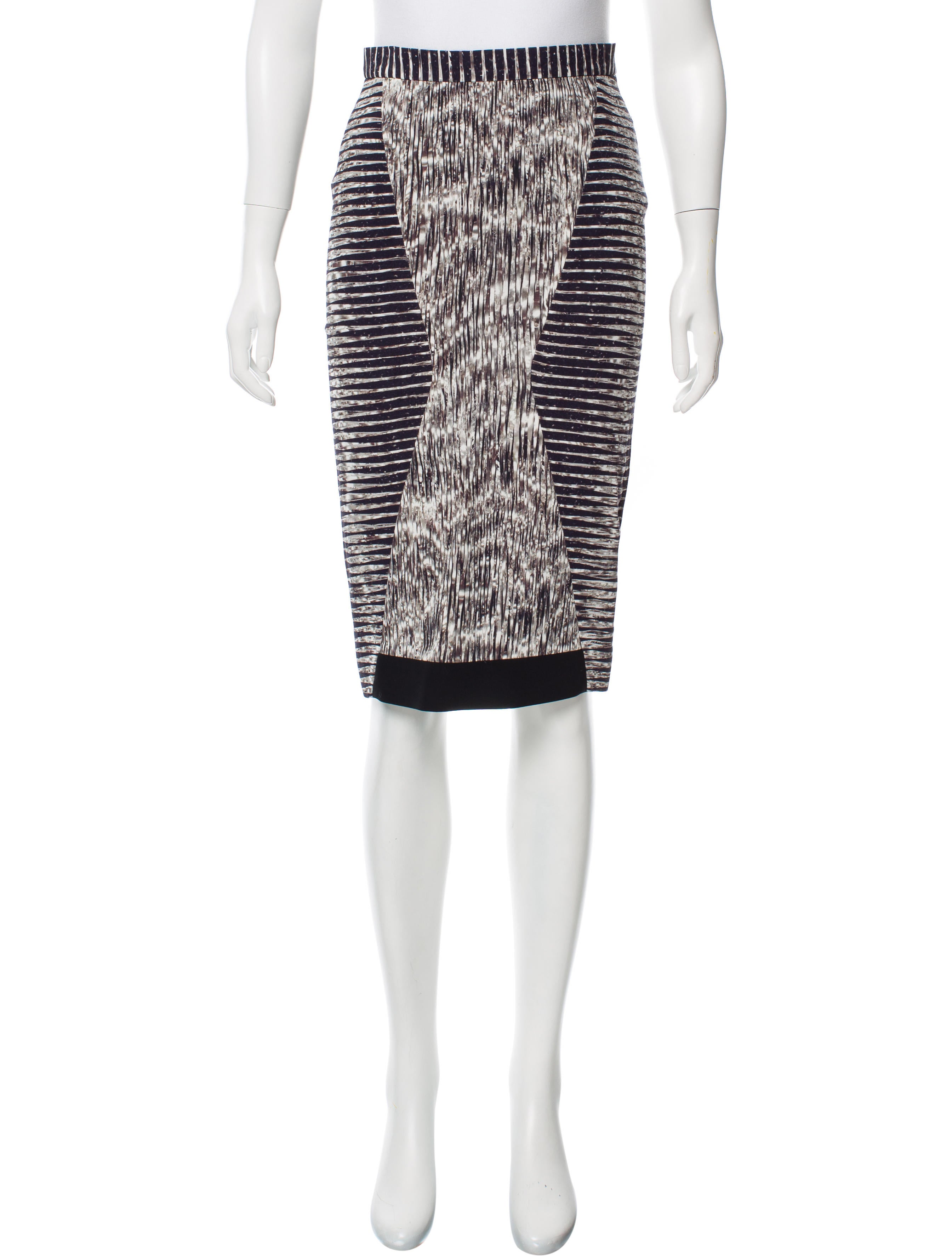 pilotto brushstroke print pencil skirt clothing