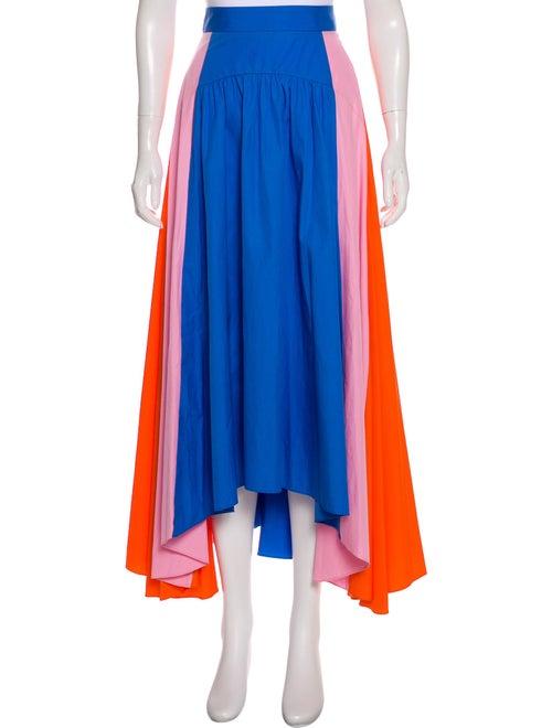 Peter Pilotto Maxi Colorblock Skirt Pink