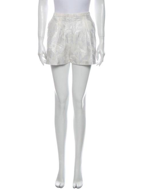 Peter Pilotto Printed Mini Shorts White