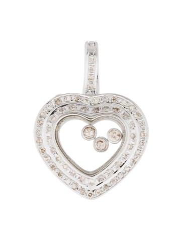 Floating Diamond Heart Pendant None