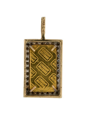 24k Diamond Credit Suisse Pendant Necklaces Penda21289