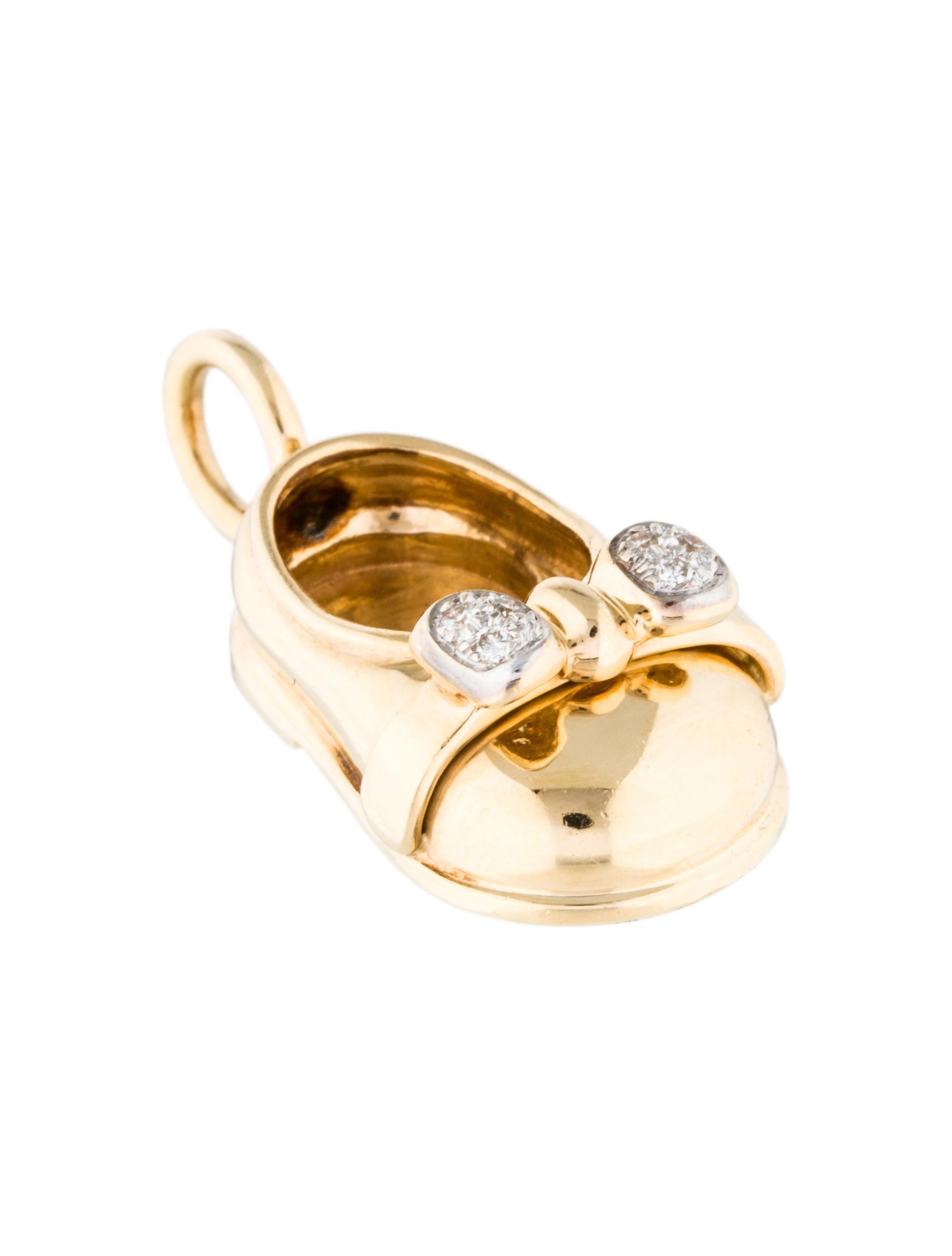 14k Diamond Baby Shoe Pendant  Necklaces  Penda22193. Chasing Fin Bracelet. Wide Band Diamond Rings. Marcasite Jewelry. Cross Bracelet. Silver Jewellery. 14k Necklace. Cylinder Pendant. Eta Watches