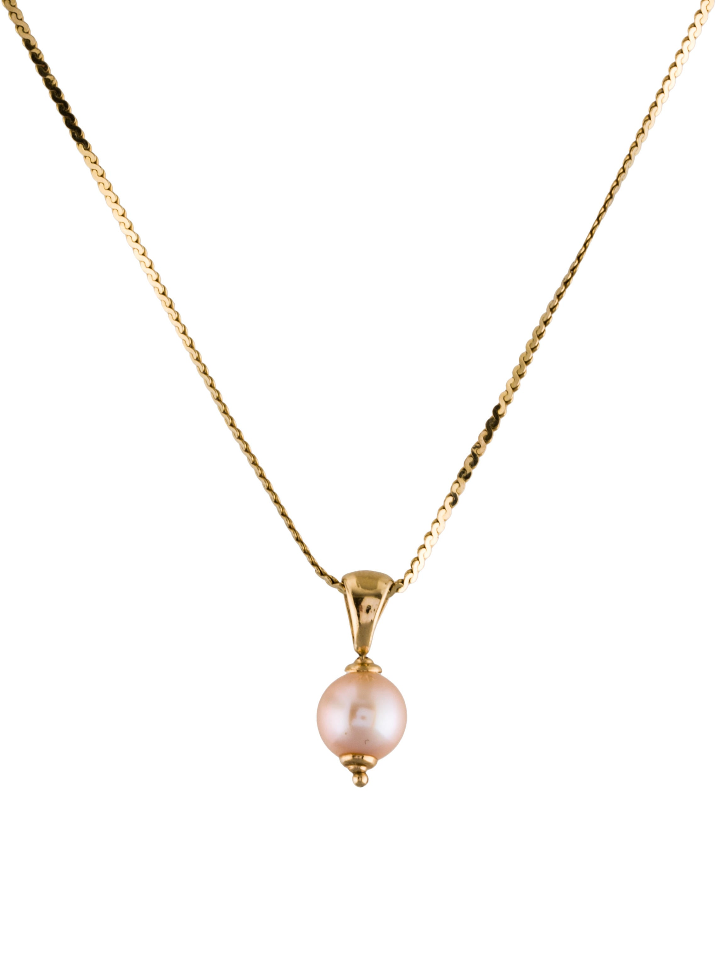 14k cultured pearl pendant necklace necklaces