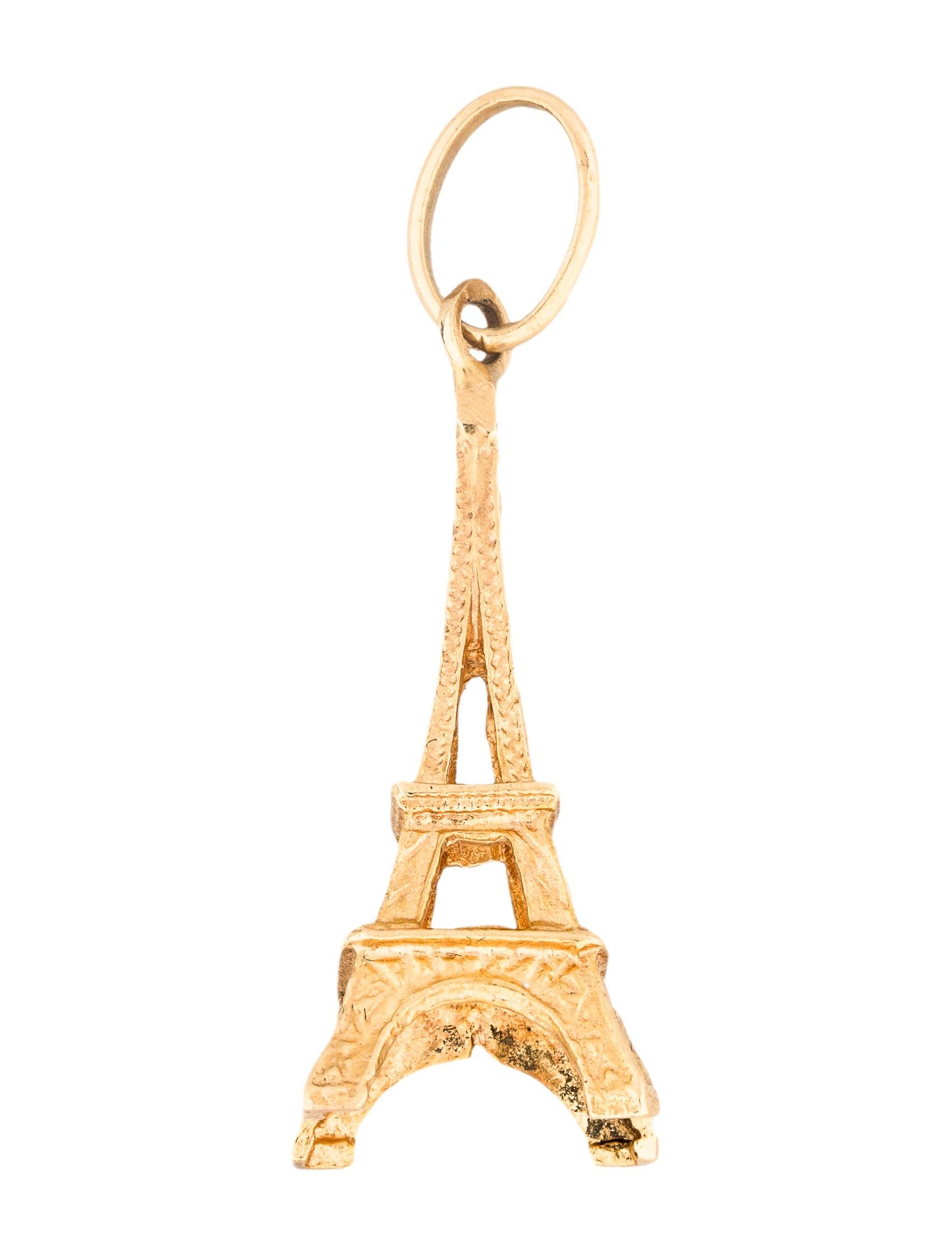 18k eiffel tower pendant necklaces penda22818 the