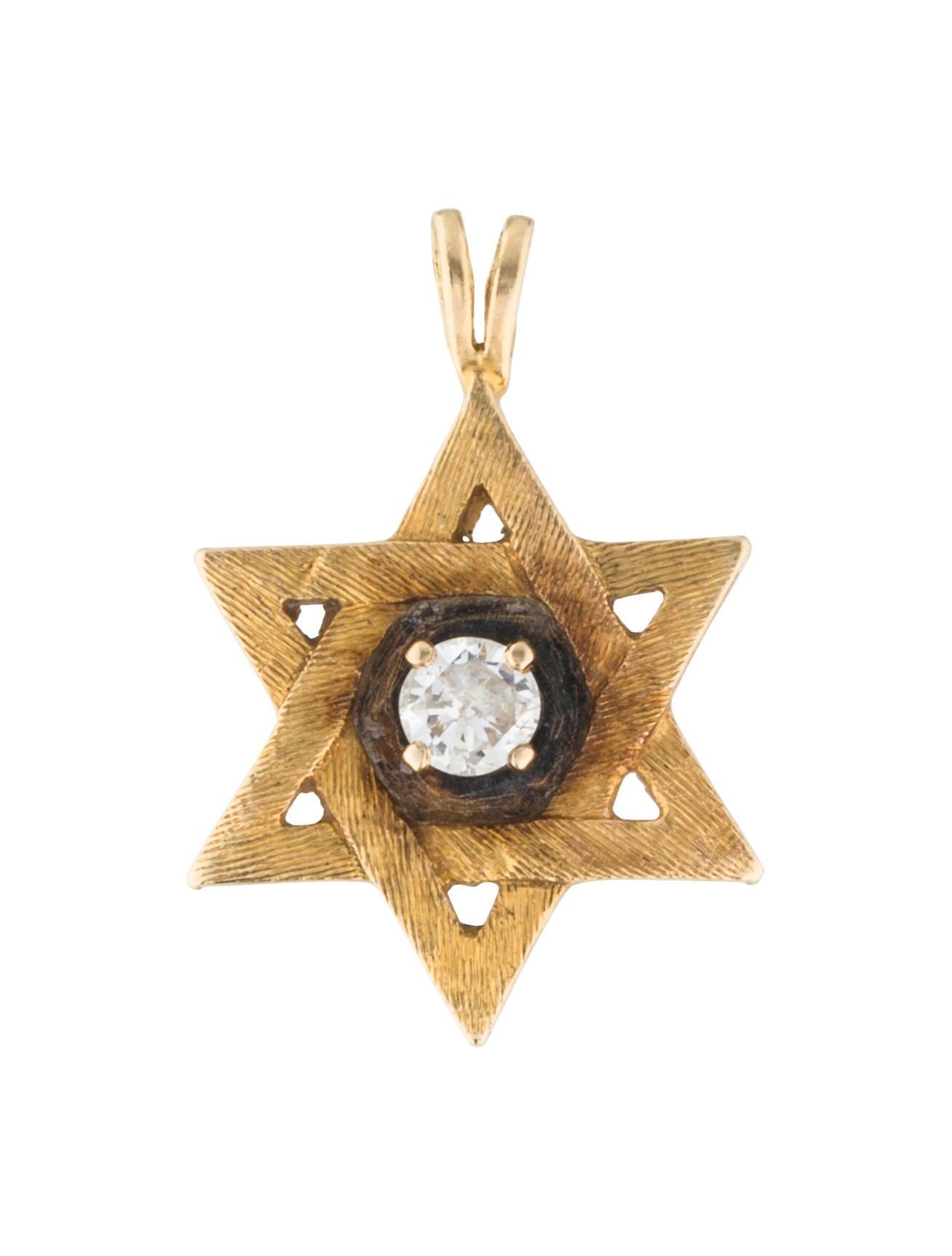 14k diamond star of david pendant necklaces penda22953 for Star hallmark on jewelry