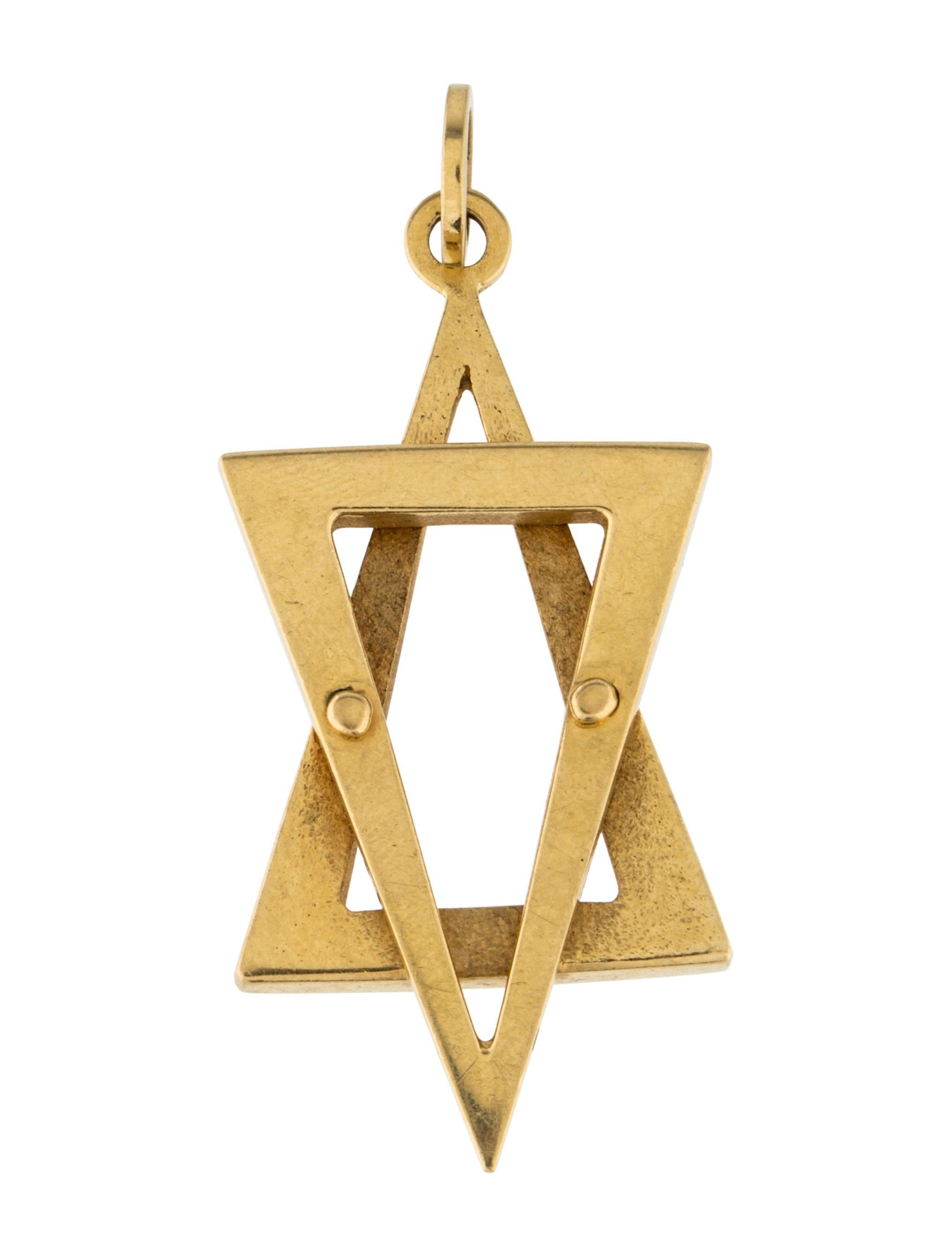 18k star of david pendant necklaces penda24208 the for Star hallmark on jewelry
