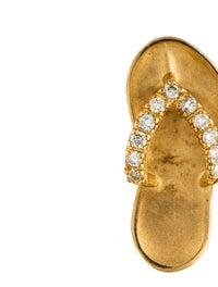 Pendant Na Hoku 14K Diamond Hawaiian Slipper Pendant