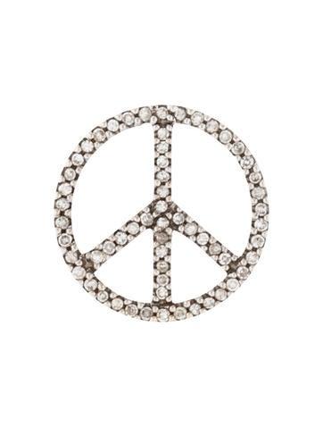 14k diamond peace sign pendant necklaces penda24648 the realreal 14k diamond peace sign pendant aloadofball Images