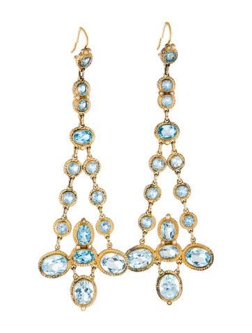 Topaz Drop Earrings