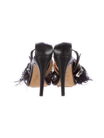 Feather Strap Sandals