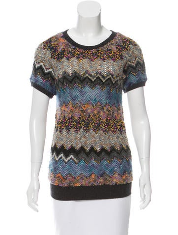 Peter Som Contrast Short Sleeve Sweater None