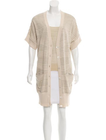 Peter Som Metallic Knit Cardigan Set w/ Tags None