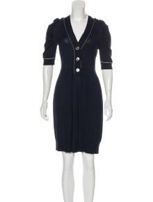 3a5a651ae466 Peter Som. Wool Blend Dress