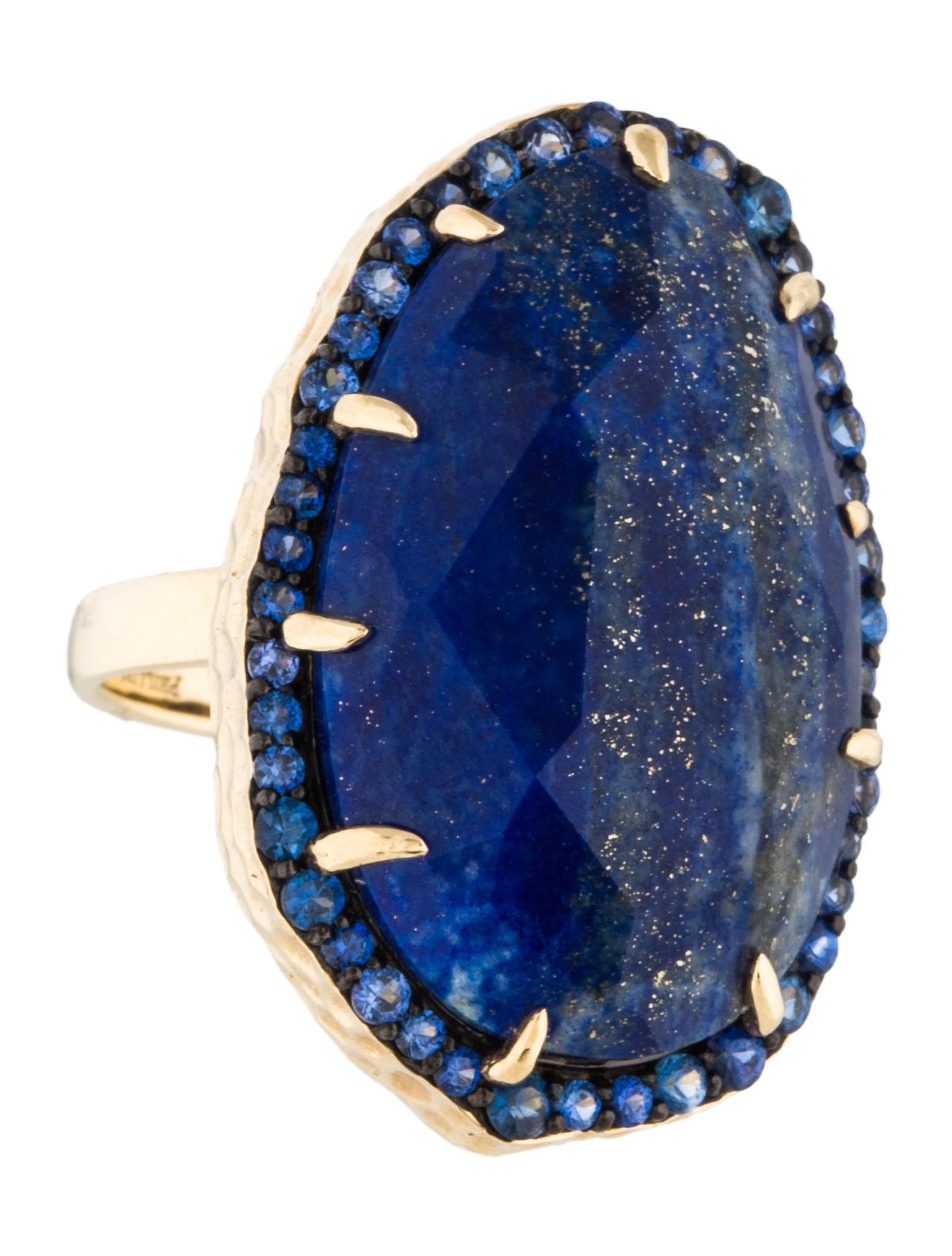 Lapis lazuli house - 14k Lapis Lazuli Sapphire Cocktail Ring