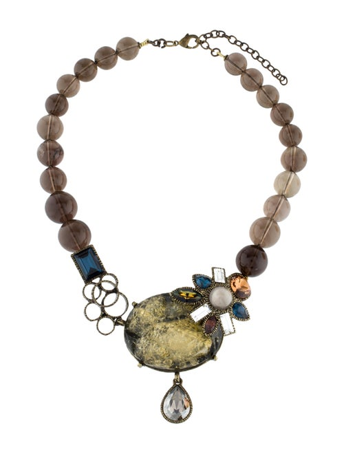 Philippe Ferrandis Smoky Quartz & Crystal Necklace