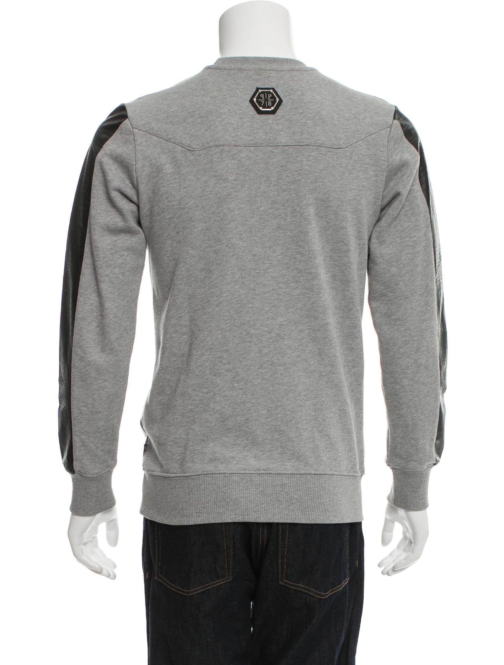 philipp plein embellished pullover sweatshirt clothing. Black Bedroom Furniture Sets. Home Design Ideas