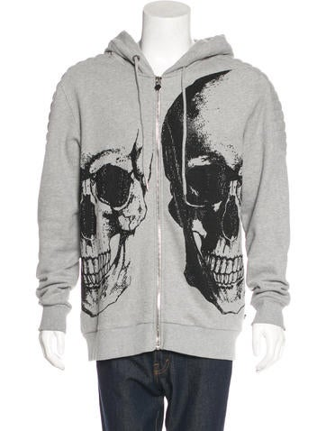 Philipp Plein Embellished Zip Sweatshirt None