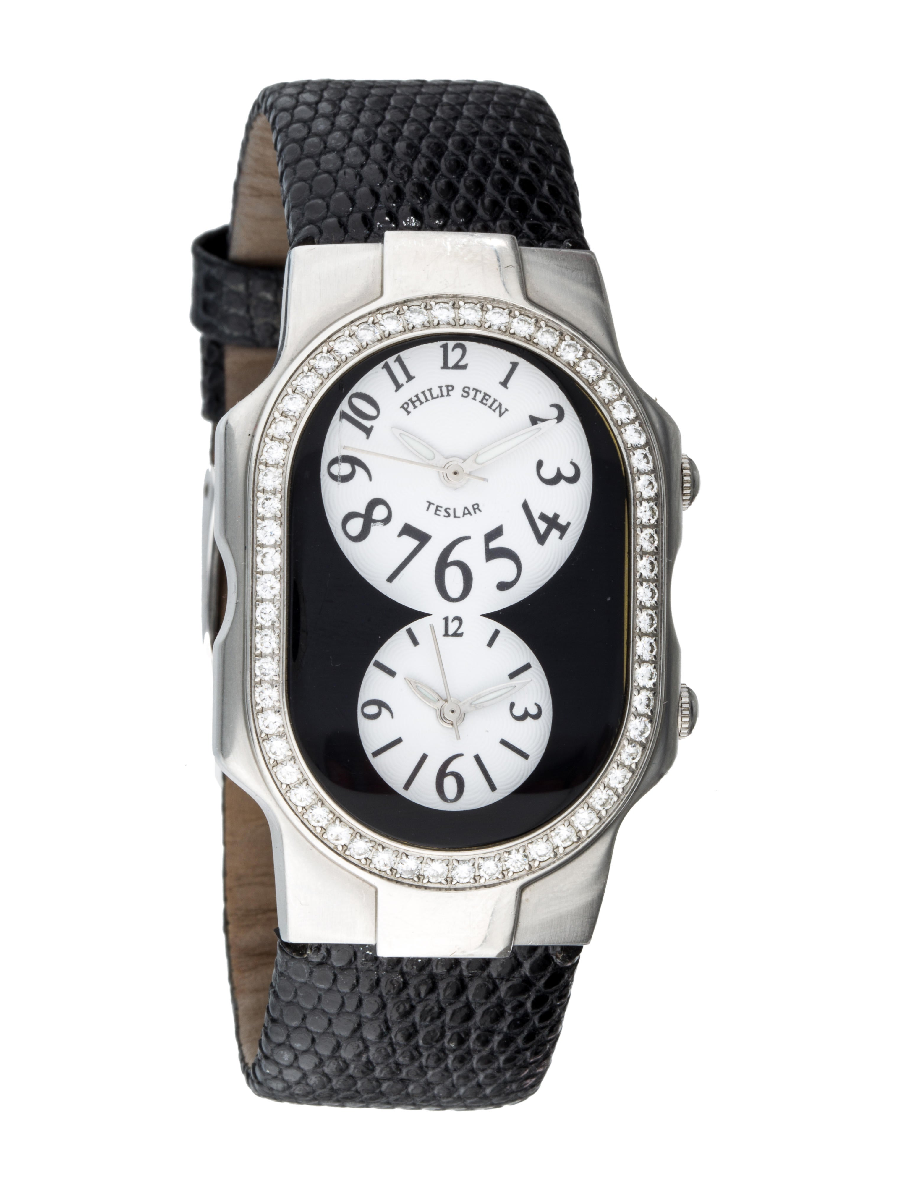 Philip stein diamond teslar watch strap phs20112 the realreal for Philip stein watches
