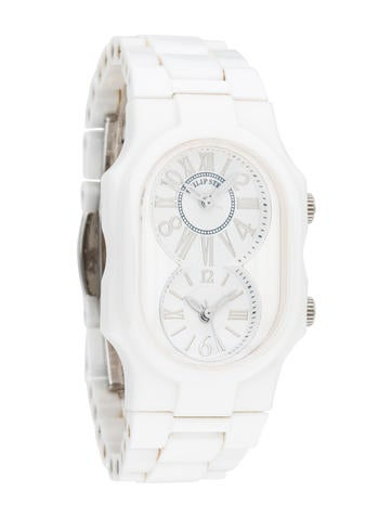 Philip Stein Dual Timezone Ceramic Watch None