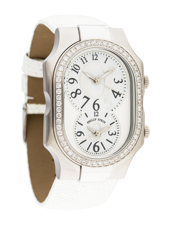 Philip stein oprah 39 diamond o 39 watch strap phs20603 the realreal for Philip stein watches